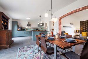 Wohn-, Koch- und Essbereich_Ferienhaus Nordseebirke